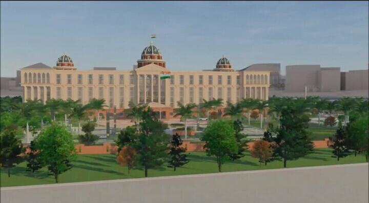 Telangana New Secretariat Design Graphic Video