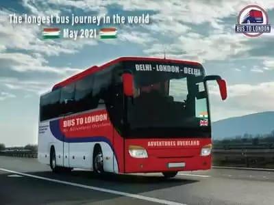 ఢిల్లీ-లండన్ బస్సు ప్రయాణం.. 18 దేశాలు.. 70 రోజుల జర్నీ